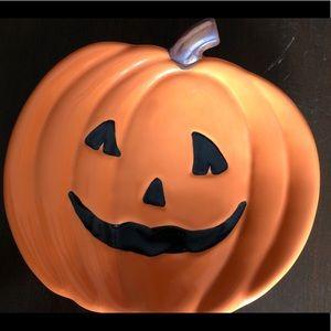 "Pottery Barn 7.5"" Jack O Lantern Halloween Plate"